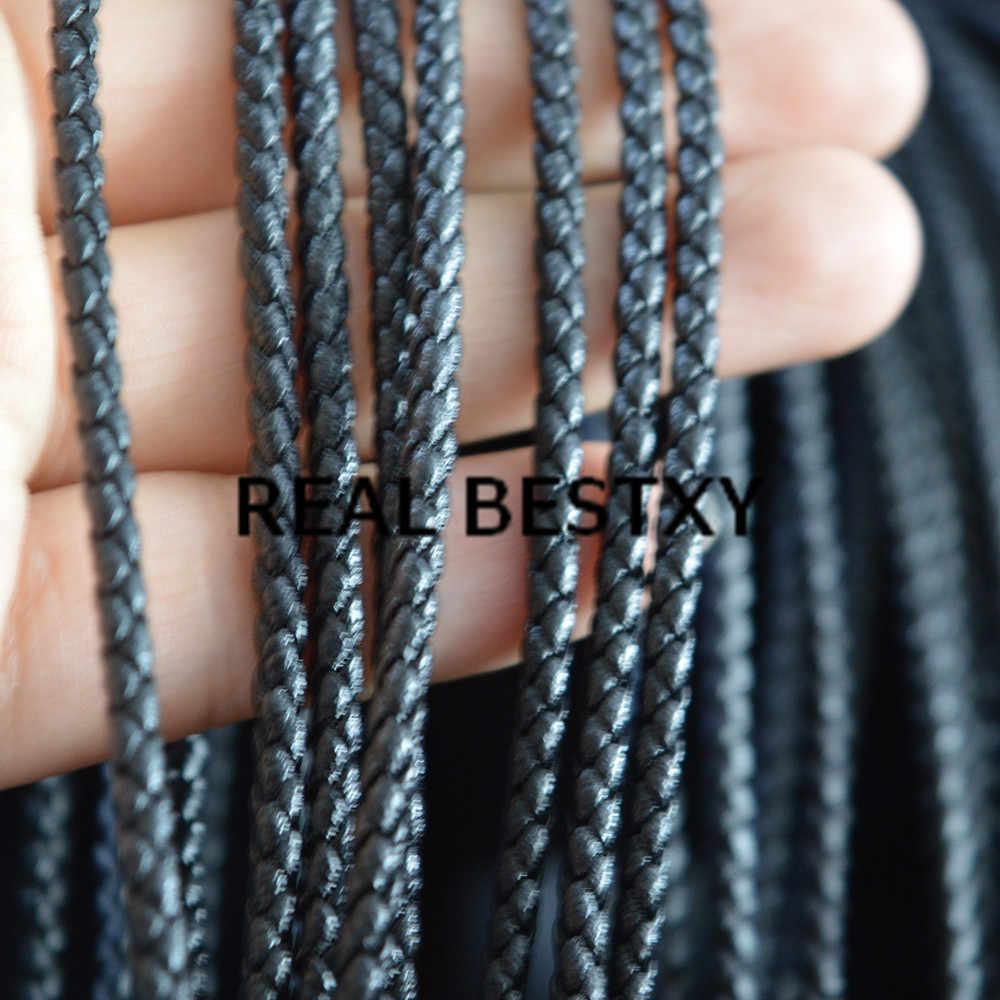 Настоящий BESTXY 5 м/лот PU Кожаный Плетеный веревочный коричневый черный шнур ручной работы ювелирных изделий DIY браслет украшение на нитке