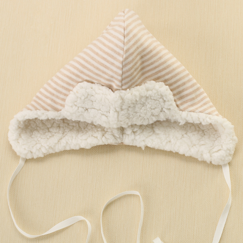 2016 Thicken Warm Infant Baby Hat Organic Cotton Wool