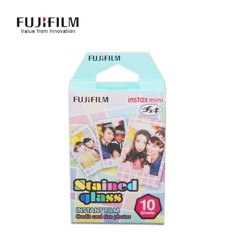Galleria fotografica Fujifilm Instax Mini 9 8 7s 25 50s 90 Film 10 Sheet 35mm Photo Paper Fuji Instant camera Glass pane Film for Mini Camera
