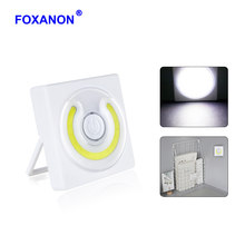 Foxanon 5W 6V Novelty Lighting Mini COB LED Night Lamp Battery Operate Luminaire Cabinet Wardrobe Closet Camping Emergency Light(China)
