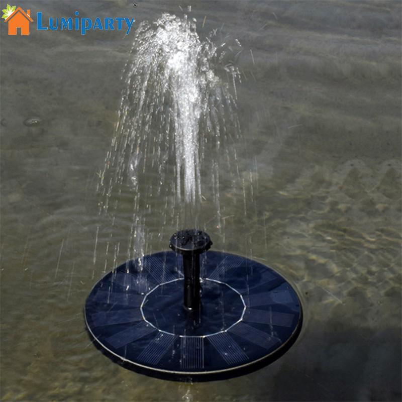 LumiParty En Plein Air Fleur-forme Solaire Alimenté Flottant Fontaine pour Étang Jardin Décoration