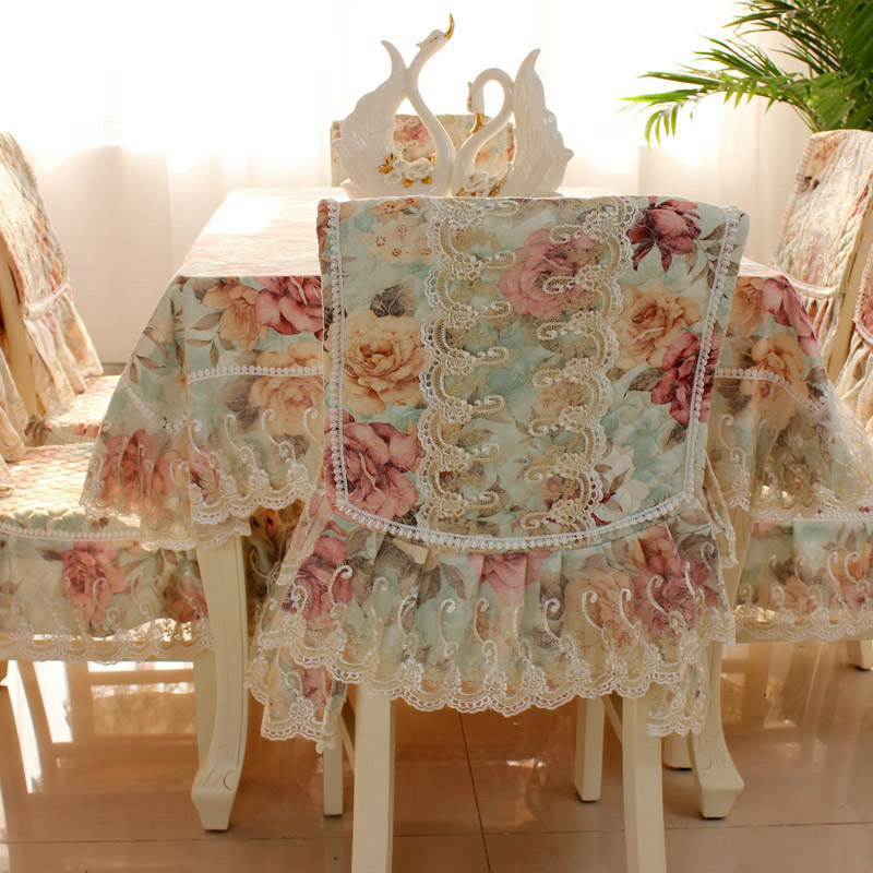 Luxurious lace cloth cloth Tablecloth European garden art flower table cloth cushion covers table cloth thick winter suit