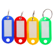 Keychain Key-Ring Name-Tags Plastic Blanks Paper-Insert Baggage Diy for Mix-Color 30pcs