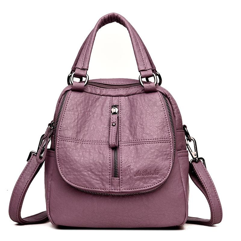 Women backpack 2018 new large capacity leather backpack women mochila women bag casual tote backpack female bag