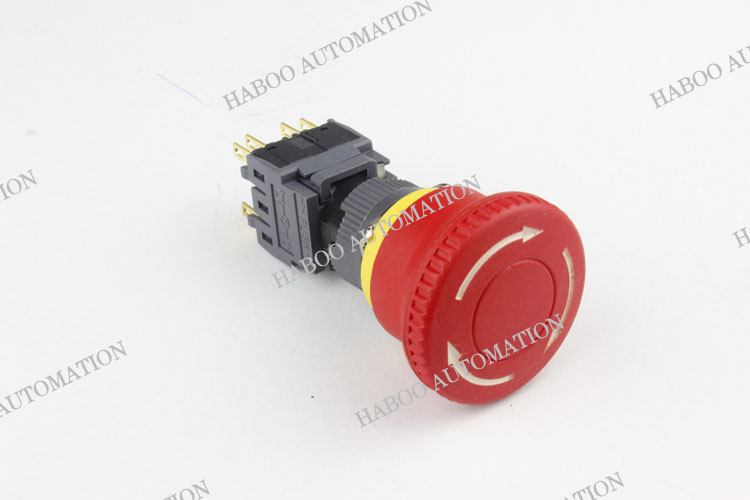 16Mm E-Stop Push Button Nc Red