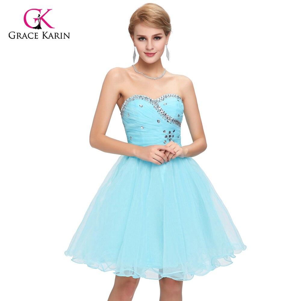 Pink Puffy Short Prom Dresses 2017 – fashion dresses
