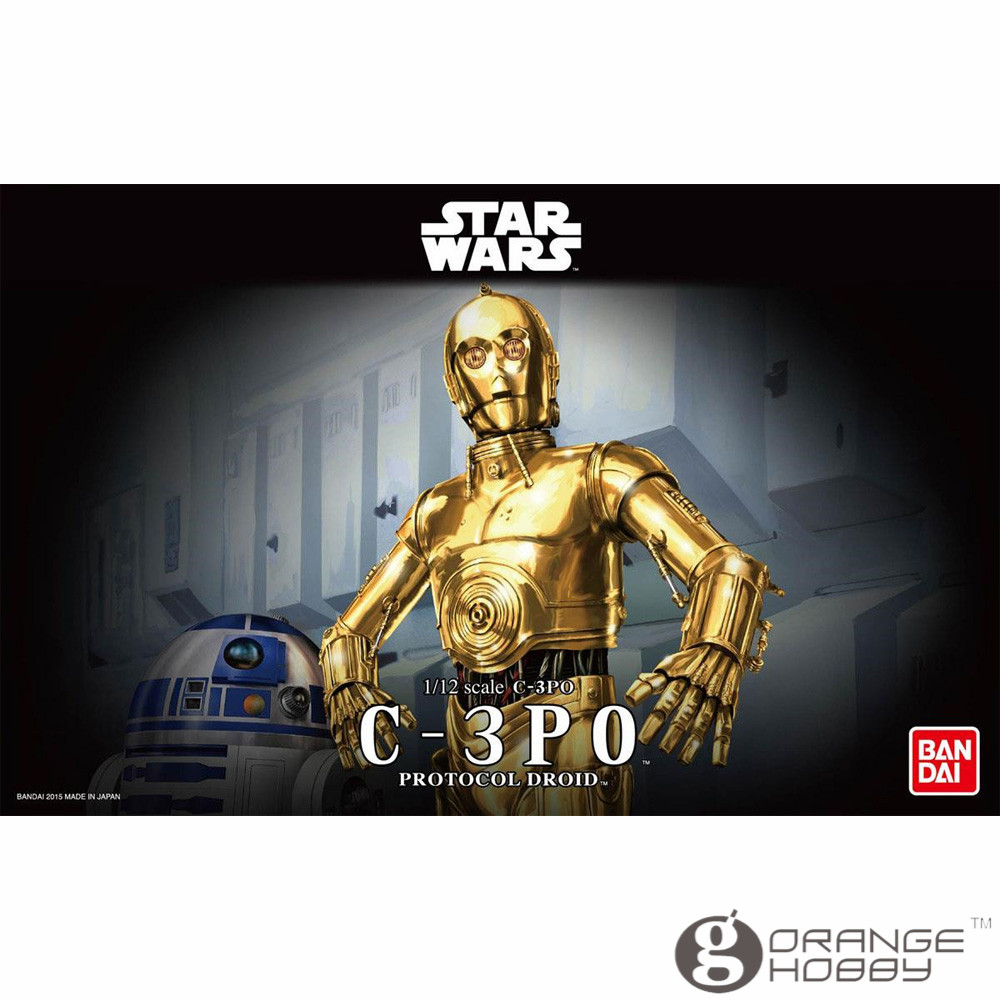 OHS Bandai Star War 1/12 C 3PO PROTOCOL DROID Assembly Model Kits oh