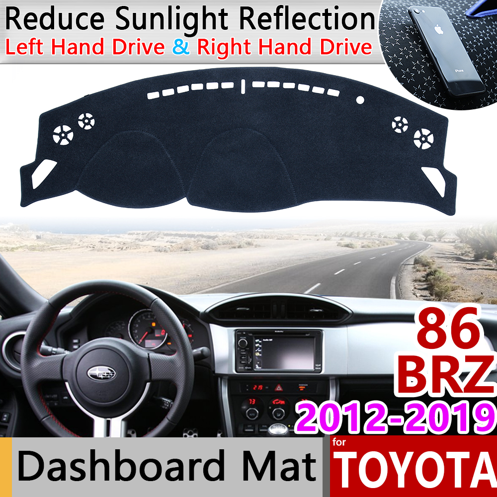 7//2012 ON DASHMAT BLACK for TOYOTA 86 WITH P//AIRBAG