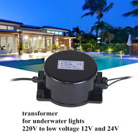 Outdoor Color Monochrome Underwater Light Pool Light Dedicated 220V Turn 24V with 12V Waterproof Ring IP68 Transformer 200W 300W