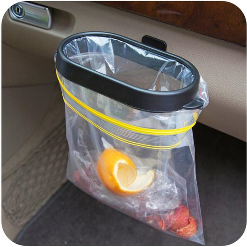 Hot Be Hanging Trash Bag Rack Shelving Car Rubbish Storage Basket