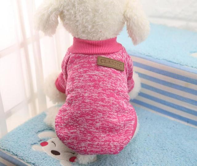 XS-XXL Candy Color Sweater Pet Dog Clothes Coat Jacket Puppy Small Dogs Cat Costume Apparel Hoodies Chihuahua Yorkie Warm Soft