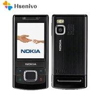 Unlocked 6500 S Orijinal Nokia 6500 Tek Çekirdekli Slide Cep Telefonu 3G Bluetooth Mp3 Player 3.15MP Cep Telefonu Ücretsiz nakliye