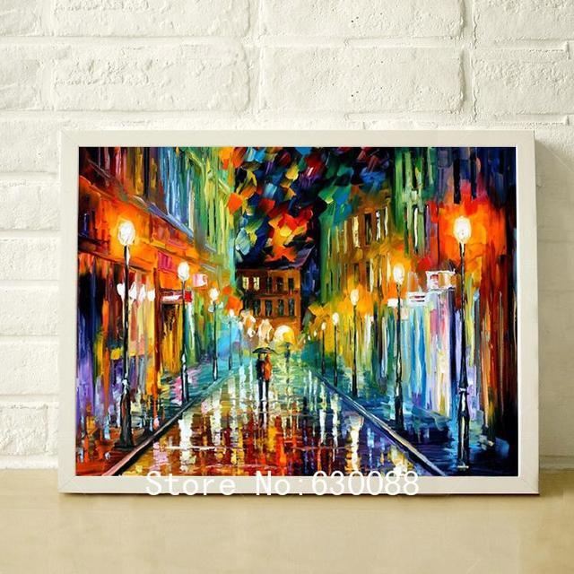 100 la main peinture moderne couteau palette paysage peinture l 39 huile sur toile haute for Peinture moderne