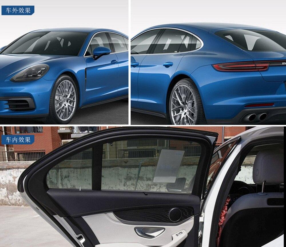 100% UV Side Car Pare-Brise Solaire Protection VLT 35% Noir Vitres Teintées Film Protection Solaire Décoration Fenêtre Date