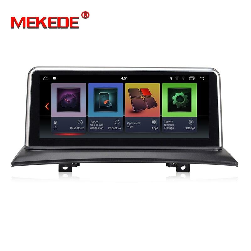 ID7 IPS écran! 10.25 Android 7.1 gps dvd auto pour BMW X3 E83 2004-2010 soutien wifi BT Quad core 2 GB RAM 32 GB ROM Navi palyer
