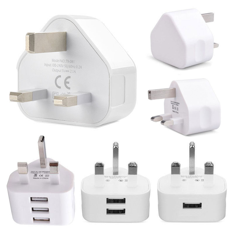 SOONHUA Mobile Phone Charger 1 2 3 USB Wall Charger Travel Fast Charging Adapter For IPhone X 8 Samsung S8 Xiaomi Tablet UK Plug