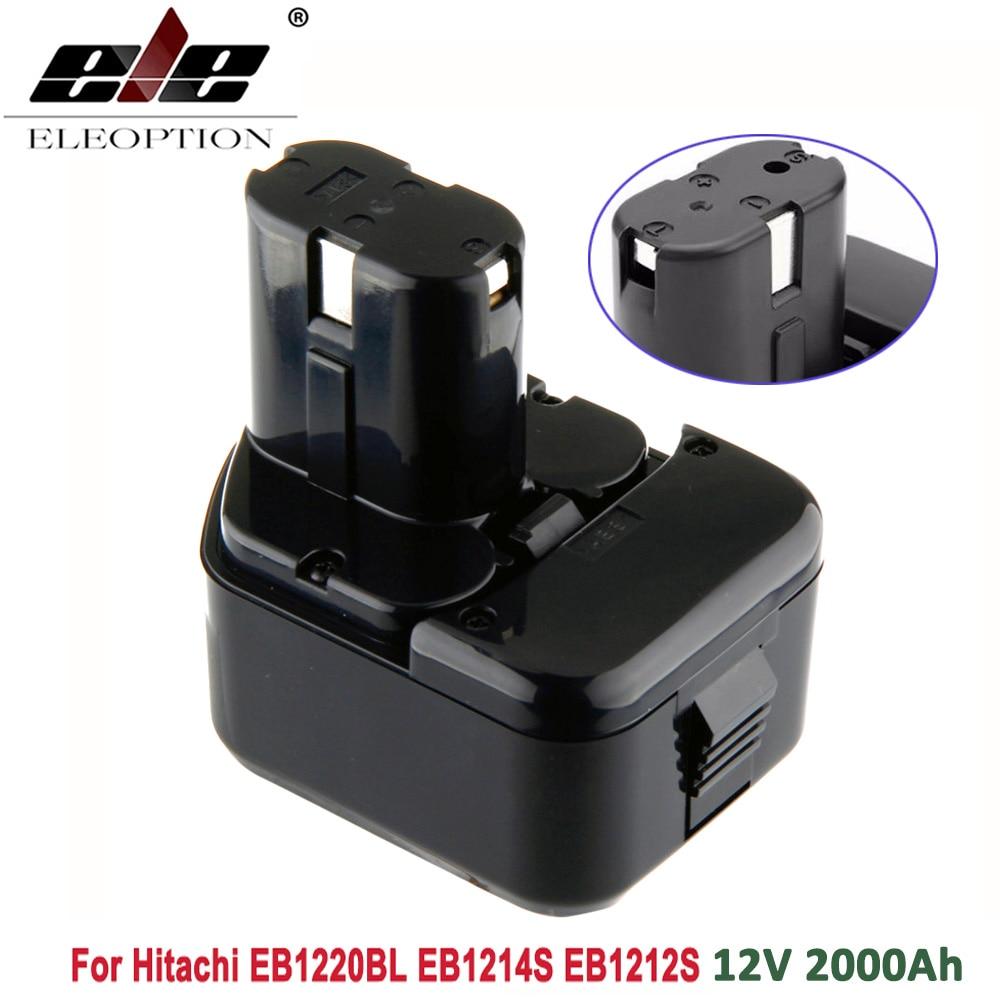 ELEOPTION High Quality 2000mAh 12V 2.0Ah Battery For Hitachi EB1214S 12V EB1220BL  EB1212S WR12DMR CD4D DH15DV C5D , DS 12DVF3