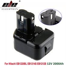 ELEOPTION, gran calidad, batería de 2000mAh, 12V, 2,0 Ah para Hitachi EB1214S, 12V, EB1220BL, eb121212s, WR12DMR, CD4D, DH15DV, C5D , DS 12DVF3