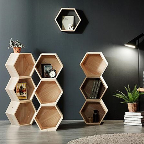 Bookcase Living Room Furniture Home Furniture solid wood Bookshelf Bookcase Display Stand hexagon storage rack 40*20*34.6 cm Bookcase Living Room Furniture Home Furniture solid wood Bookshelf Bookcase Display Stand hexagon storage rack 40*20*34.6 cm