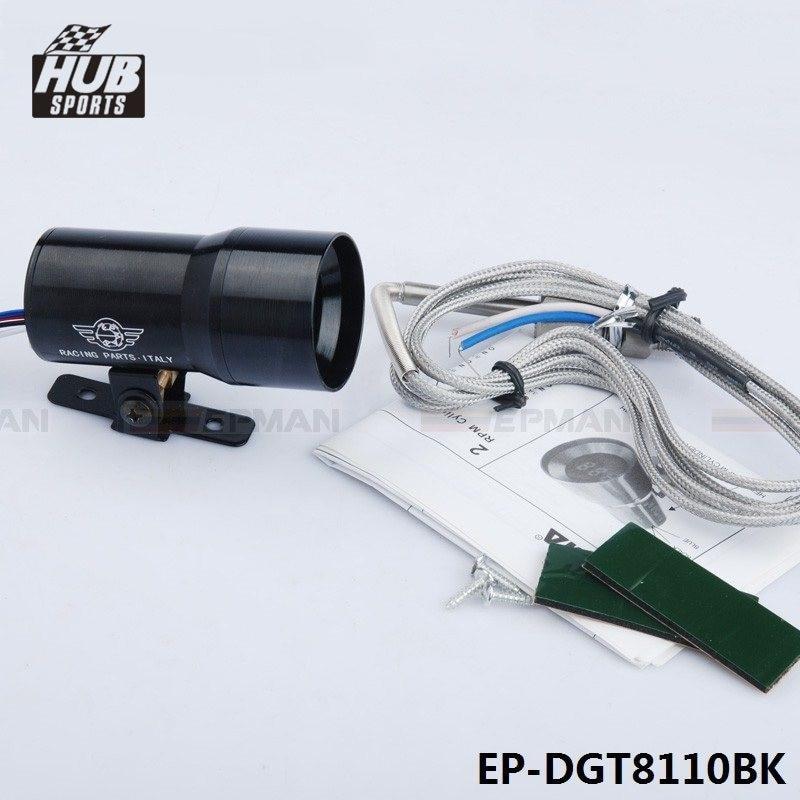 EPMAN 37MM Digital Smoked Lens Exhaust Gas Temperature EGT Gauge Black EP-DGT8110BK
