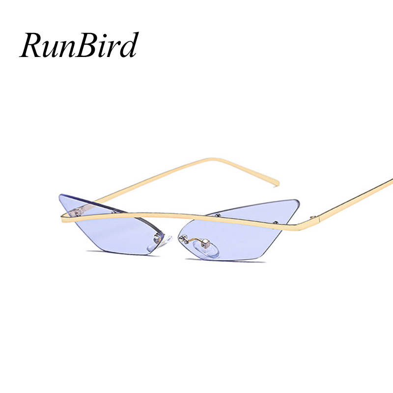 d2d0125a748 Pointy Triangle Sunglasses Hippie Robot Sun Glasses Men Small Rimless Cat  Eye Sunglasses Women Cool Glasses Fashion 5213R-in Sunglasses from Apparel  ...