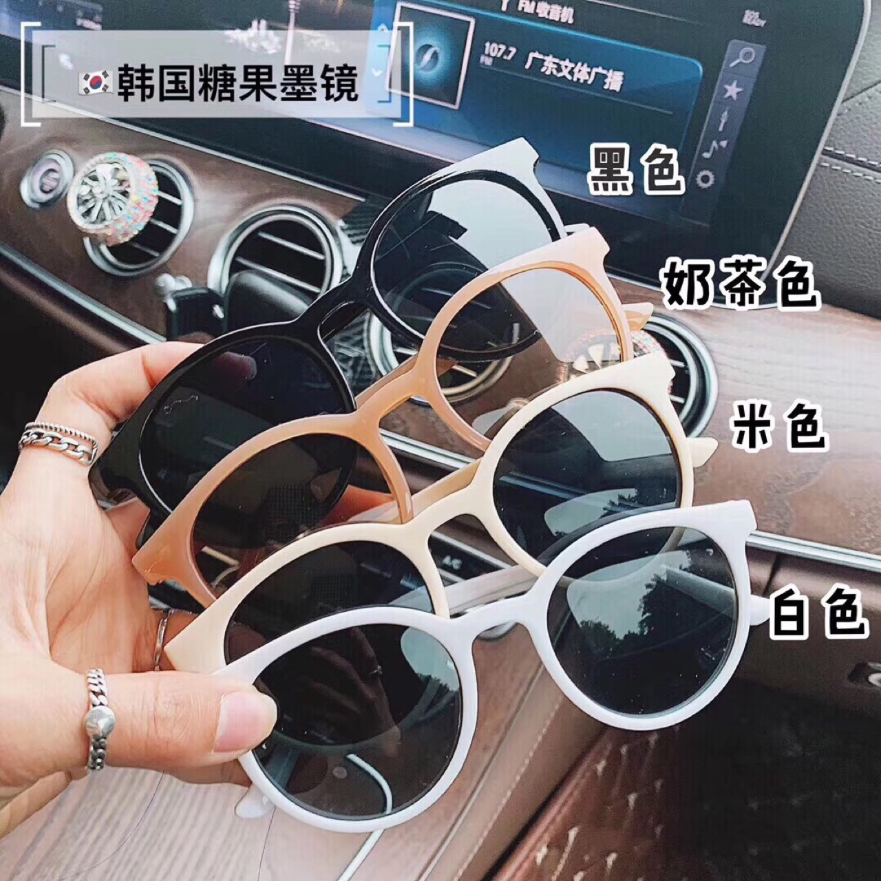 Retro Classic Oversized Round Polarized Sunglasses for Men Women UV400 Frame Black lens Eyewear Driving SunGlasses Female oculos in Women 39 s Sunglasses from Apparel Accessories