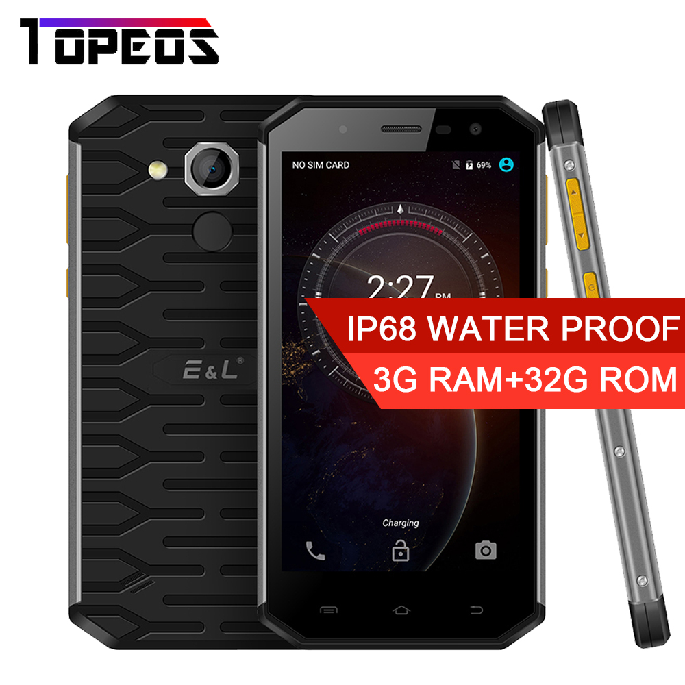 E L S50 IP68 Waterproof Shockproof Moible Phone Octa Core 3GB Ram 32GB Rom Android 5