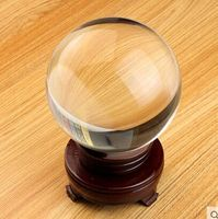 150mm/pc Big Crystal Ball Sphere For Home Decoration + Wooden Removable Base Crystal Sphere Good Luck Ball Home Decor