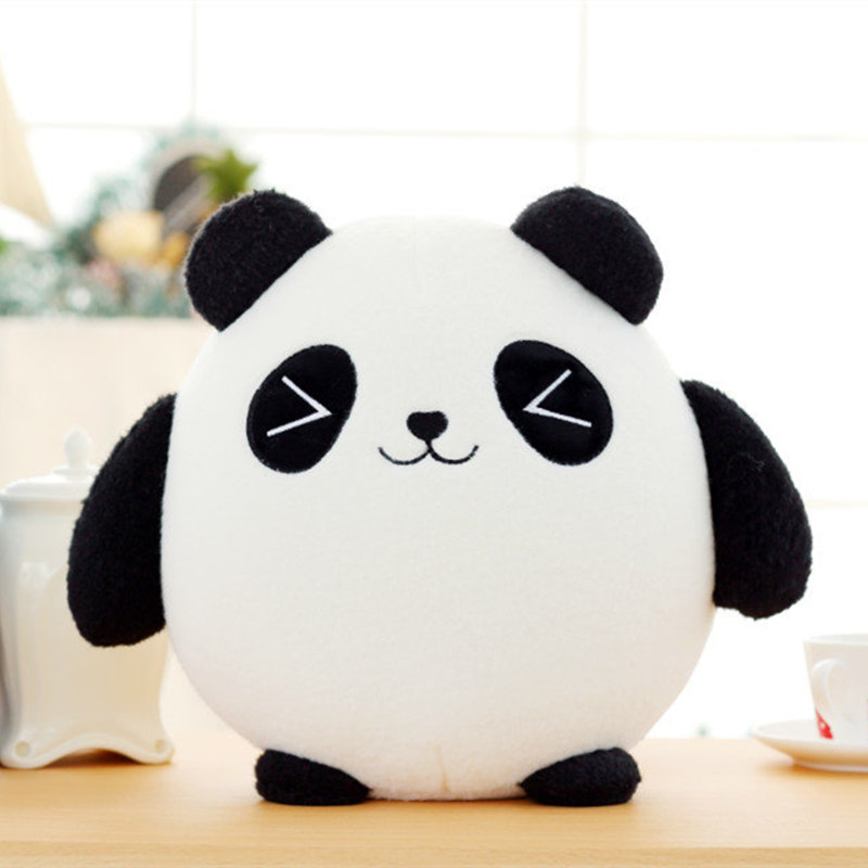 18cm Panda Plush Animals Doll Toys Fortune Cat Stuffed Lucky Cute Pillow Cushion Kids Birthday Gift