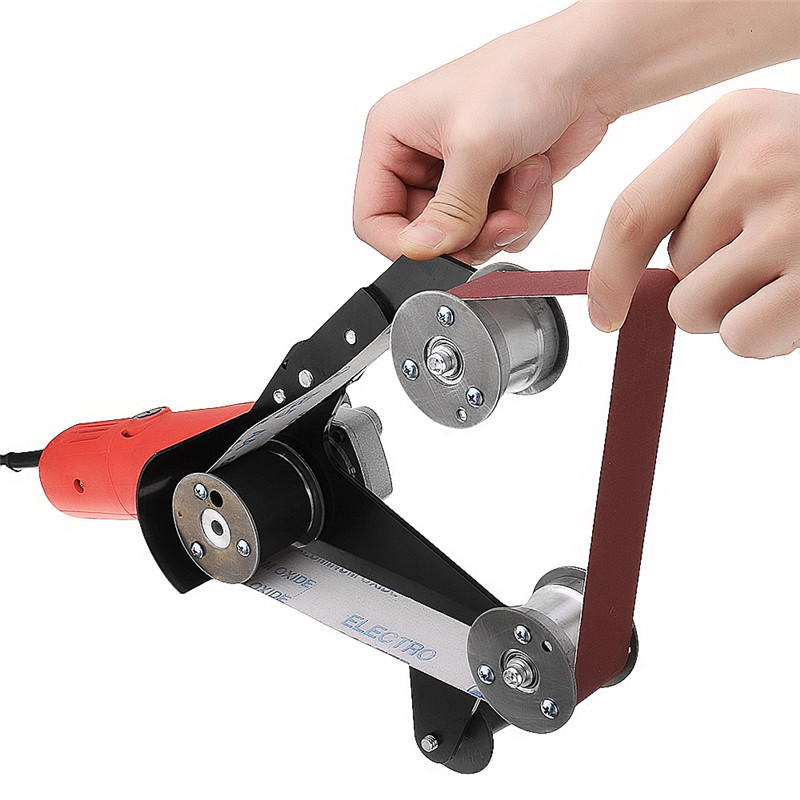 Grinder Pipe And Tube Belt Sander Attachment Stainless Steel Metal Wood Sanding Belt Adapter For 115 125 Angle Grinder Power Tool Accessories Aliexpress