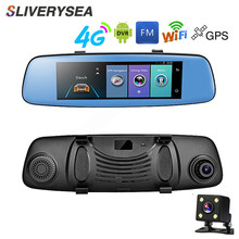 SLIVERYSEA Car DVR 7.84IPS Touch 4G Mirror Android ADAS GPS HD 1080P WIFI Auto Registrar Rear View Camera Dash Cam
