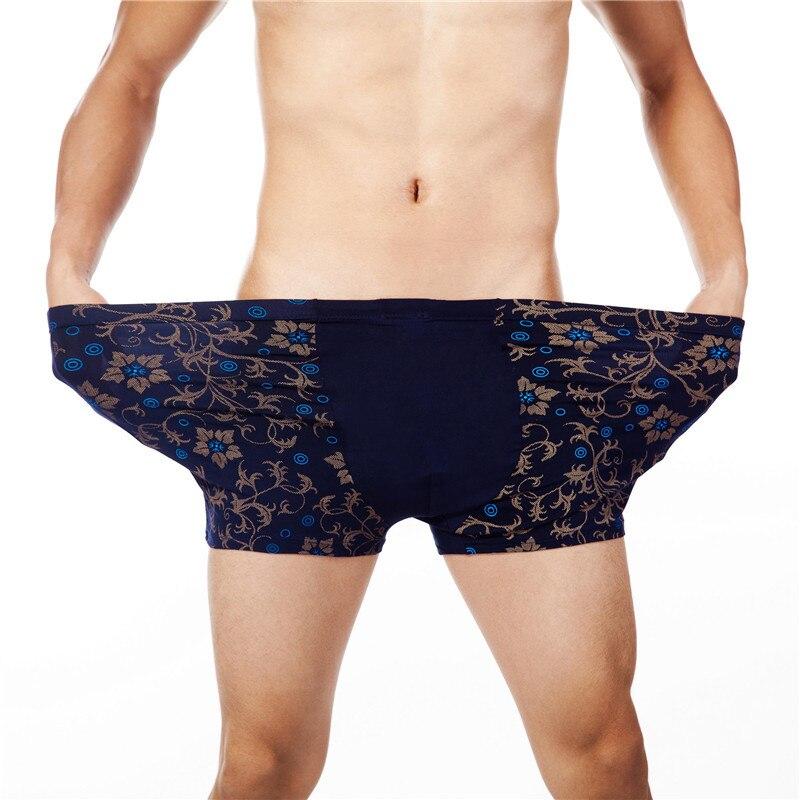 4pcs / lot Moško spodnje perilo Kratke hlače Kratke hlače Moški Hlače Cueca Boxer Spodnje perilo Natisnjene moške hlače Domov Spodnje hlače Plus Size