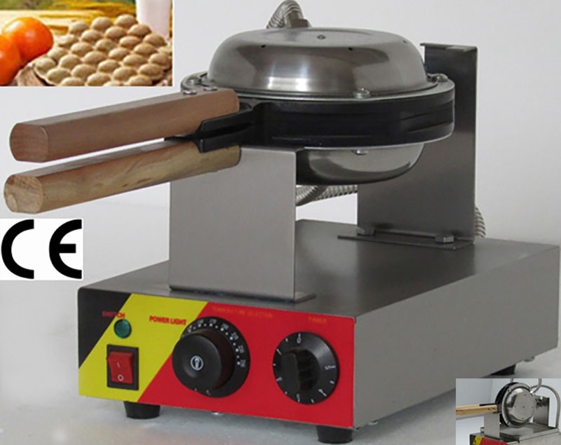 Free Shipping Commercial Use Non-stick 110v 220v Electric Hongkong Eggettes Bubble Waffle Maker Iron Machine Baker Mold Pan W/CE free shipping commercial non stick 110v 220v electric cherry blossom flower waffle iron maker baker machine