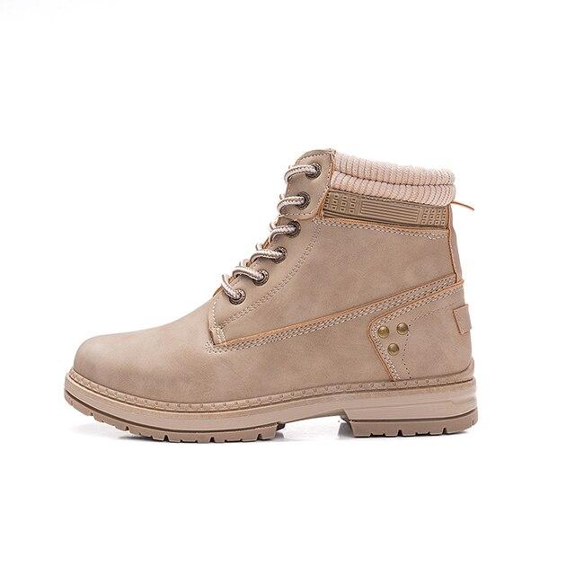COOTELILI/Брендовые женские мотоциклетные ботинки из искусственной кожи, повседневная обувь на платформе со шнуровкой, женские ботильоны, женские ботинки, Размеры 35-41