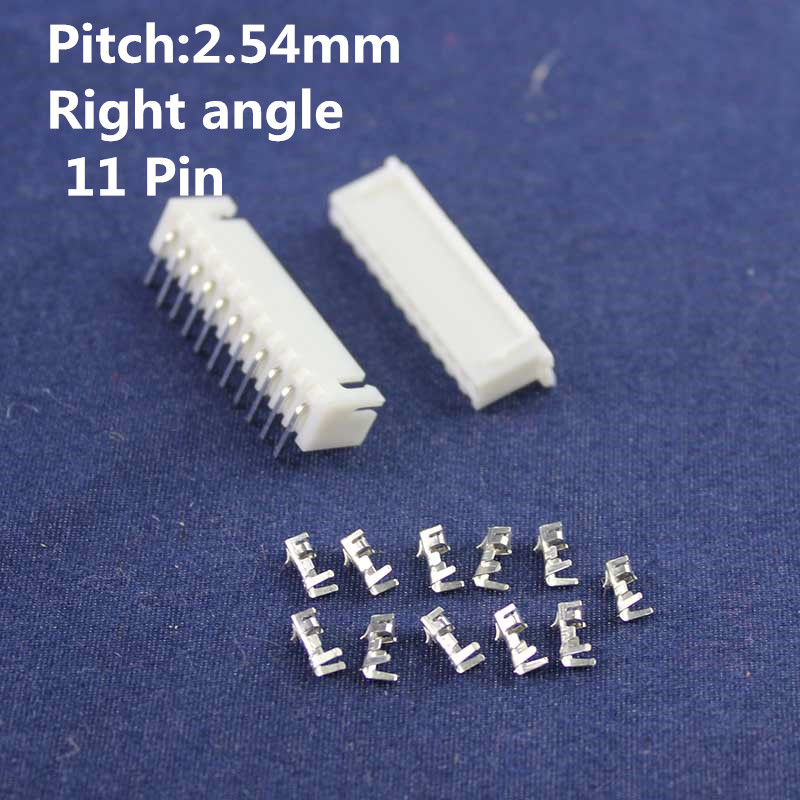 20 sets 11pin Right angle 2.54mm Pitch Terminal / Housing / Pin Header Connector Wire Connectors Adaptor XH-11P Kits
