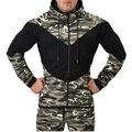Мужчины LeopardSweatshirt Мода Осень Зима С Длинным Рукавом Цветовой контраст Печати молния Шить цвет HoodedHoodies