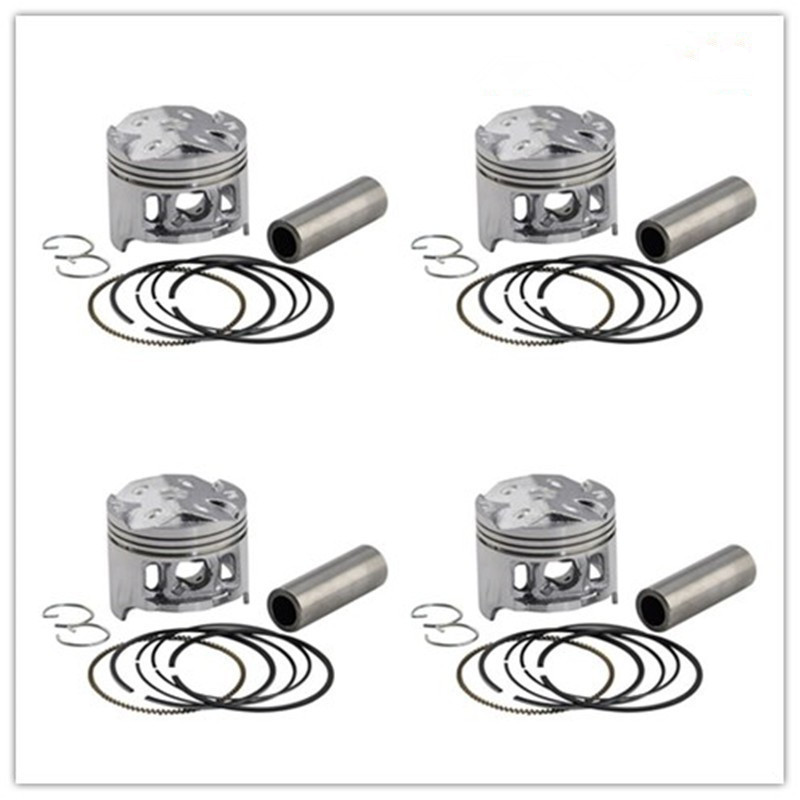 Motorcycle Engine Parts 25 Cylinder Bore Size 64 25mm: 4 Sets +75 Cylinder Bore Size 49.25mm Piston & Ring Kit