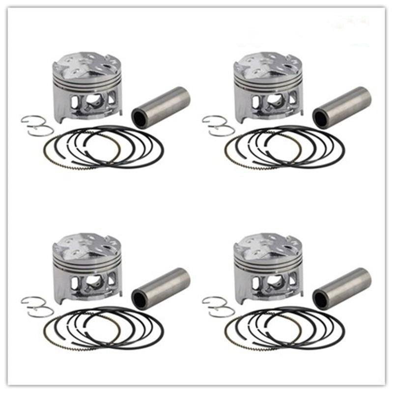 4 Sets +75 Cylinder Bore Size 49.25mm Piston & Ring Kit