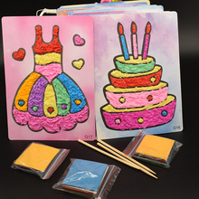 Diy Dress Cake Crafts Toys For Children Felt Paper Girl Gift Handicraft Kindergarten Material Arts And Craft Kids Baby Boy Toy cheap 5~7 Years Other GRZ01 Sports China certified (3C) No eating 2 cards+3 paper+3 bamboo stick 12 color Cake Dress 16*25cm