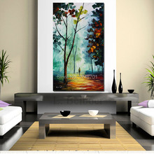 Modern Handpainted Golden Path PALETTE KNIFE Landscape Modern Wall Art Textured Oil Painting On Canvas home wall decoration