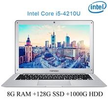 "P7-02 8G RAM 128G SSD 1000G HDD i5 4210U 14 Untral-thin notebook Gaming laptop desktop computer"""