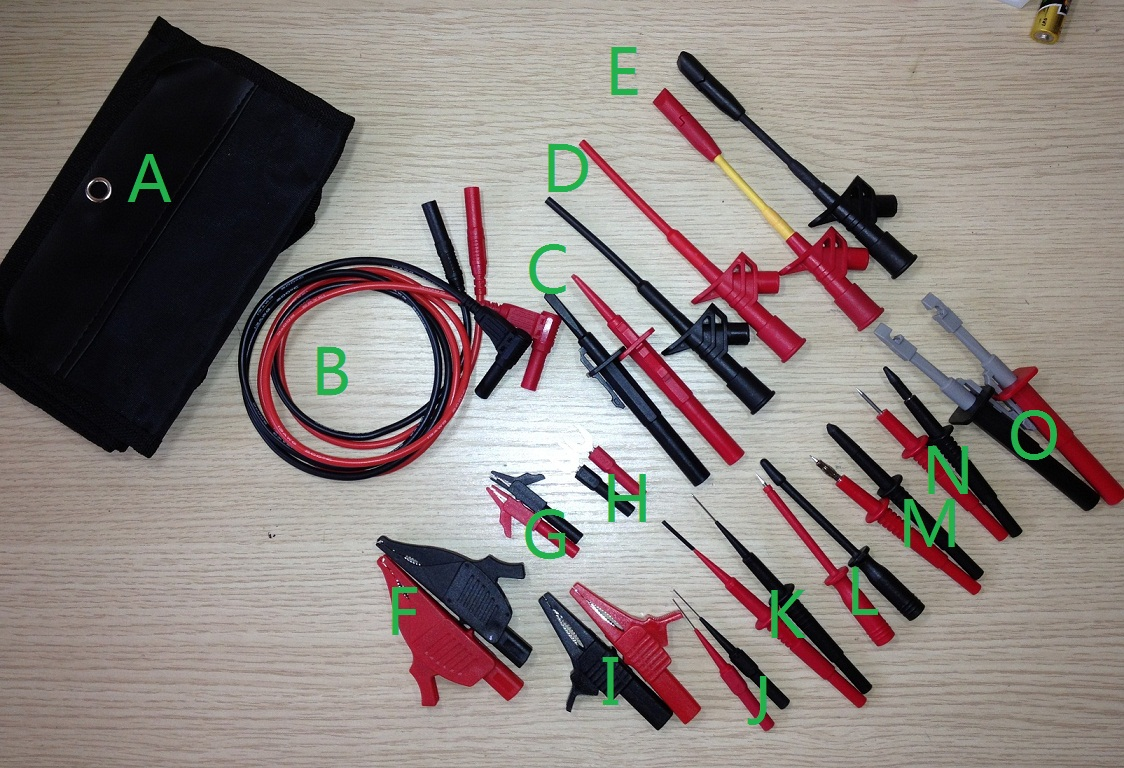 Free shipping Multimeter Test Accessories Set DMM Test Tool Kits with Ultra flexiable Silicone cable