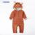 Presentes de natal temporada idade fulvo modelagem ha roupas de bebê romper terno cinza de lã de coelho do bebê do algodão subir roupas jumpsuits