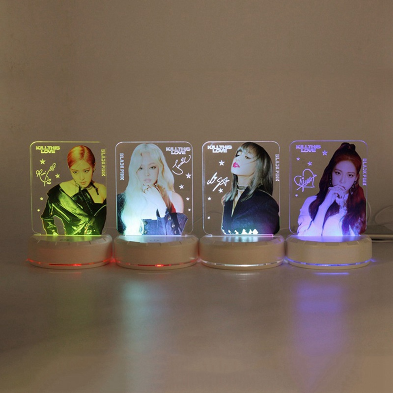 KPOP BLACKPINK Surrounding Colorful LED Lights Night Light Fashion Fans Gift Favors GiftKPOP BLACKPINK Surrounding Colorful LED Lights Night Light Fashion Fans Gift Favors Gift