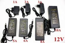 Ab/abd/İngiltere/AU güç kaynağı adaptörü trafo AC 110 240V DC 5V 12V 24V 1A 2A 3A 4A 5A 6A 7A 8A 10ALED şerit ışık dönüştürücü