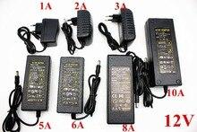 EU/US/UK/AU Adattatore di Alimentazione del Trasformatore AC 110 240V a DC 5V 12V 24V 1A 2A 3A 4A 5A 6A 7A 8A 10ALED Strisce Convertitore di Luce