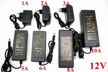 EU/US/UK/AU Netzteil Adapter Transformator AC 110 240V zu DC 5V 12V 24V 1A 2A 3A 4A 5A 6A 7A 8A 10ALED Streifen Licht Konverter