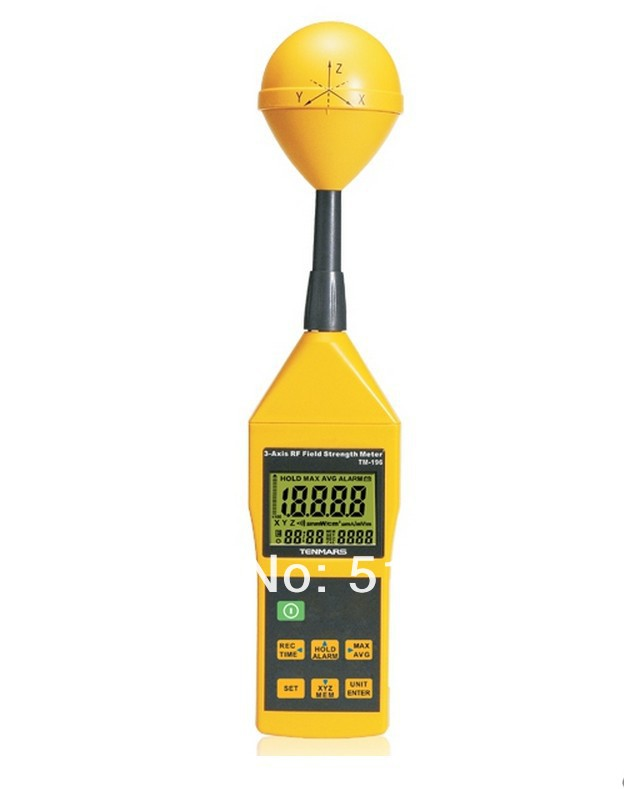 TM-196   3-Axis EMF RF ElectroMagnetic Field Strength Meter 10MHz-8GHz tenmars tm 192d 3 axis emf electromagnetic magnetic field gauss meter emf 30 2000hz with datalogger
