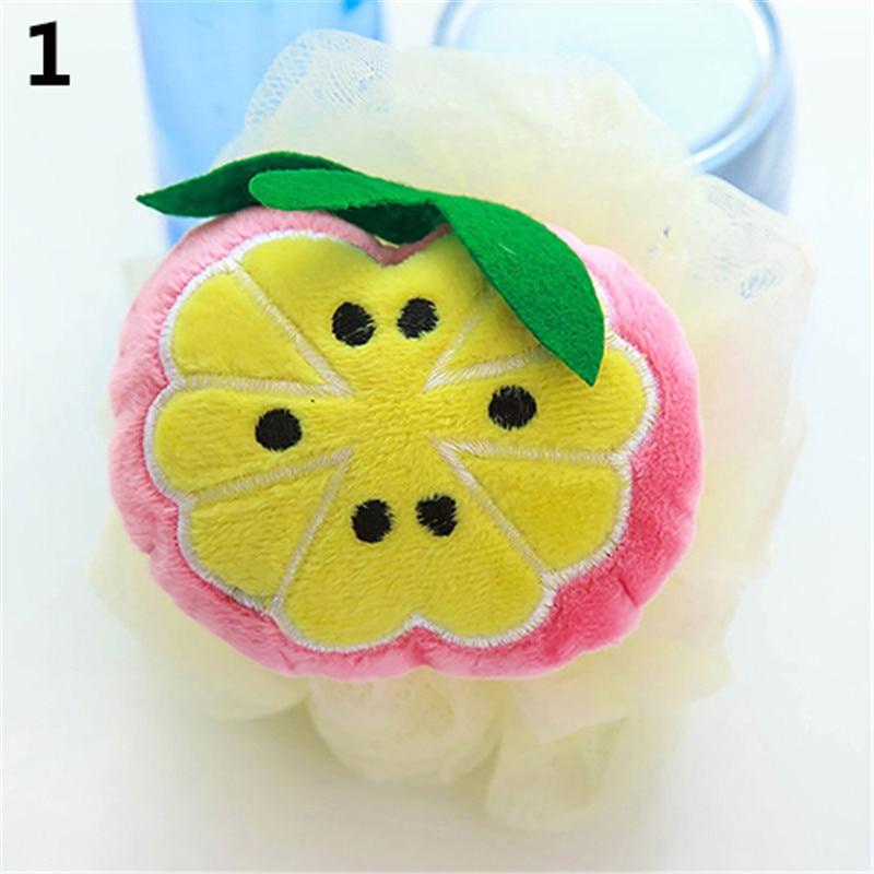 ▻Soft Fruit Form Bad Puff Dusche Schwamm Körper Schaum Blase Net ...