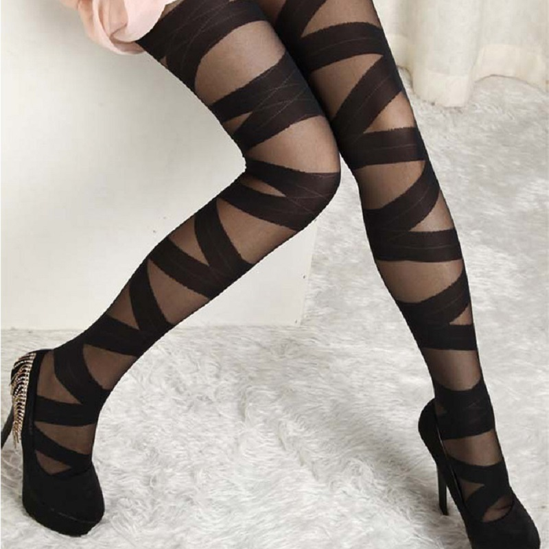 New Women/'s Vintage Hollow Lace Tights Spandex Pantyhose Long Stockings 5 Colors